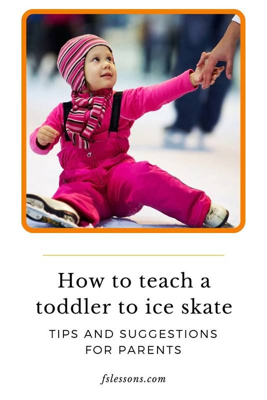 Toddlers tips ice skating for the first time